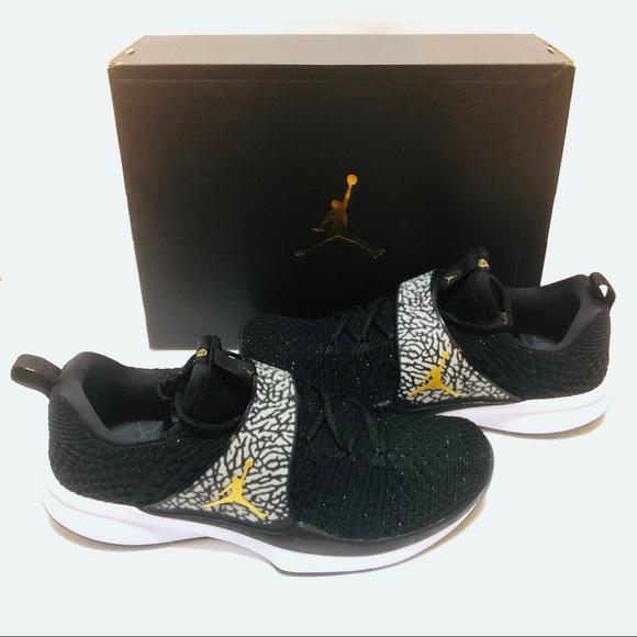 d10a8f40cf36 Air Jordan Trainer 2 Flyknit LA Edition Black Gold